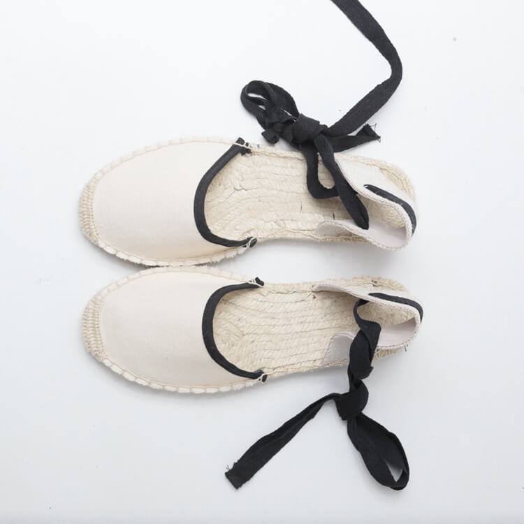 woman canvas espadrille sandals