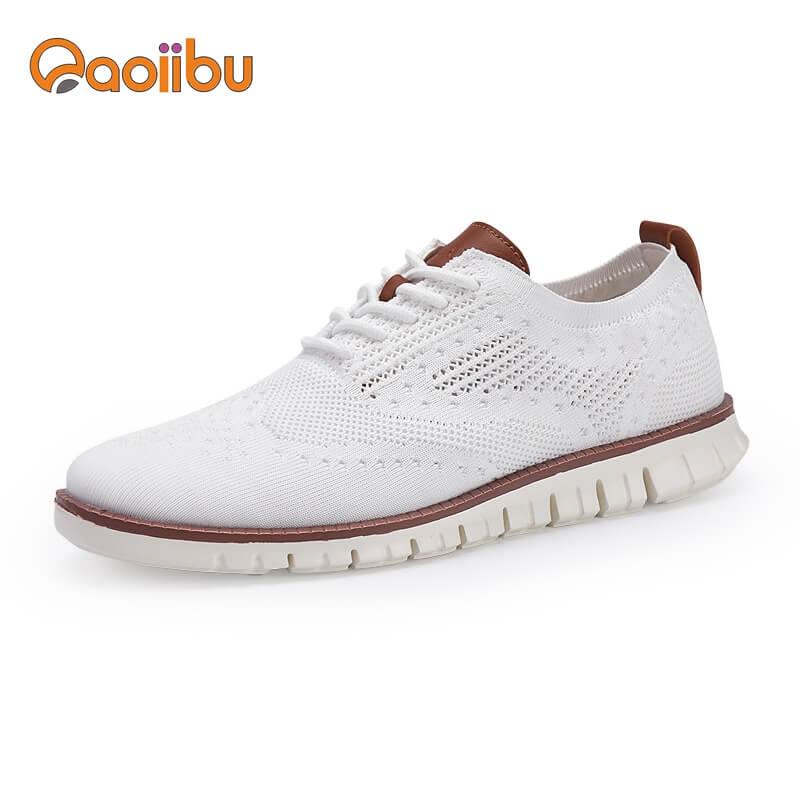 men dress oxford knitted shoes